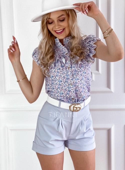 Bluzka koszulowa z żabotem Loret 7