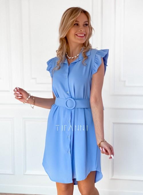 Sukienka z kołnierzykiem Mandi blue