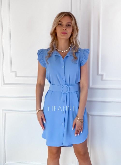 Sukienka z kołnierzykiem Mandi blue 3