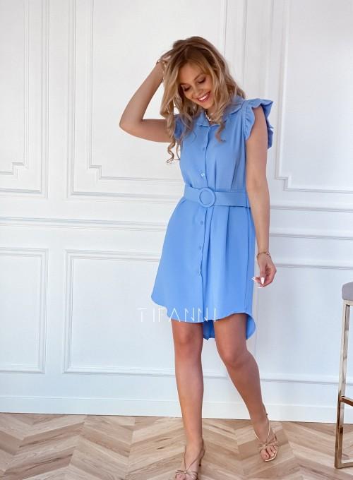 Sukienka z kołnierzykiem Mandi blue 5