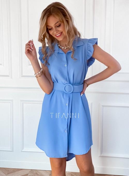 Sukienka z kołnierzykiem Mandi blue 6