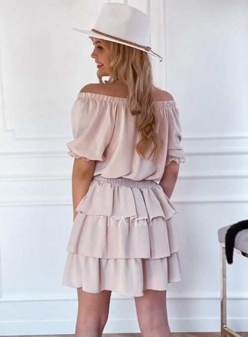 Sukienka Milo beżowa 2