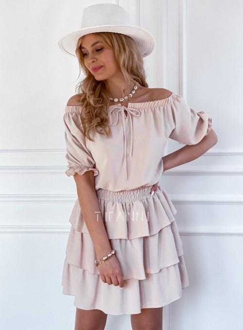 Sukienka Milo beżowa 3