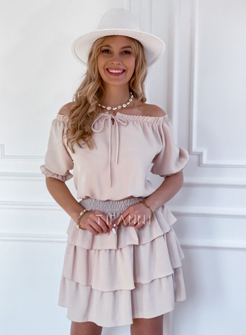 Sukienka Milo beżowa 1