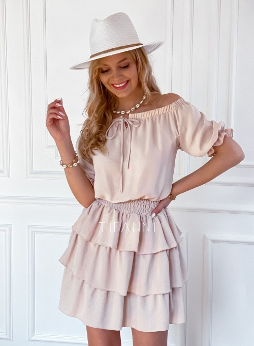Sukienka Milo beżowa 4