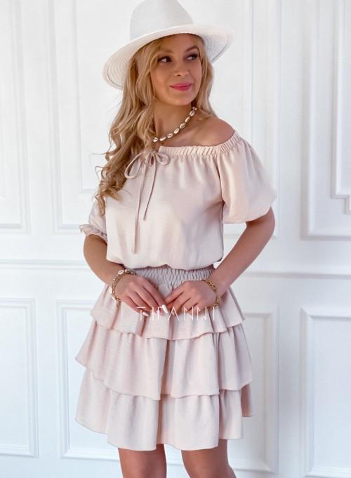 Sukienka Milo beżowa 5