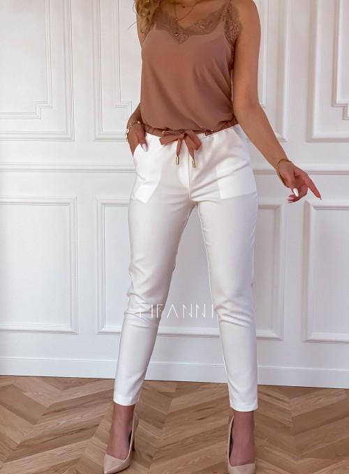 Spodnie Lavia śmietankowe