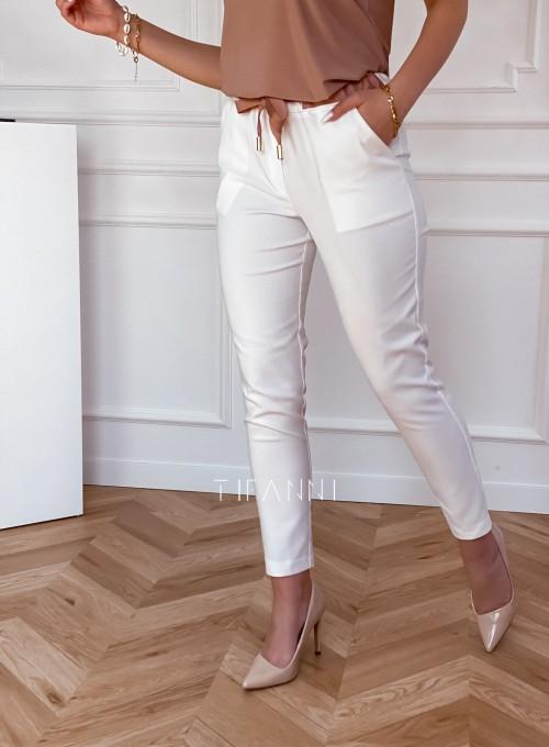 Spodnie Lavia śmietankowe 2