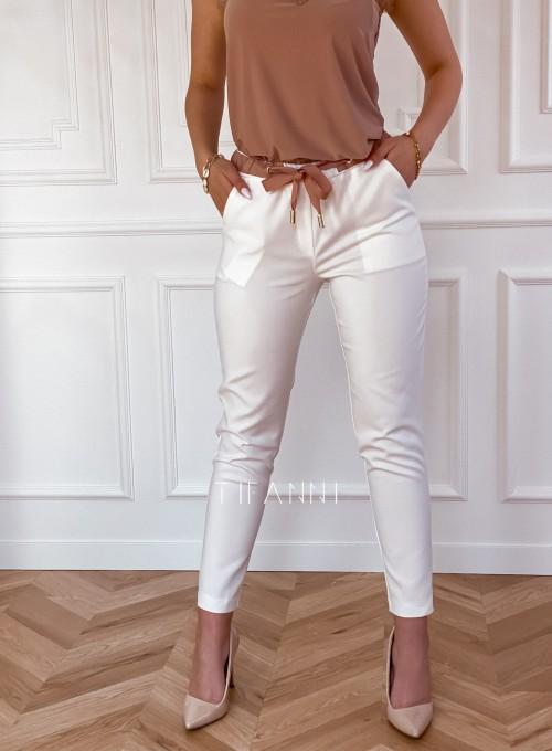 Spodnie Lavia śmietankowe 5