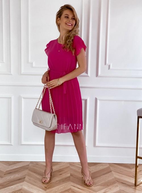 Plisowana sukienka Blanca w kolorze fuksji 5