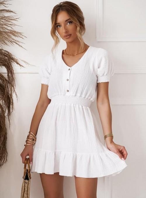 Muślinowa sukienka Nola biała