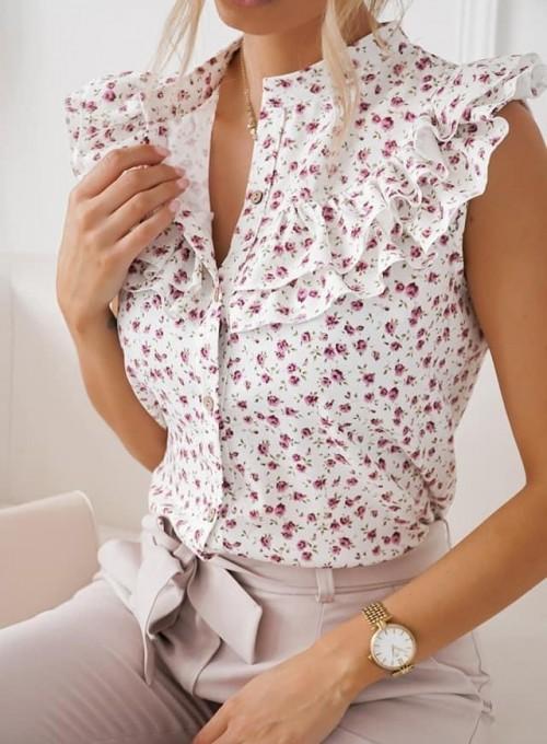 Bluzka koszulowa z żabotem Loret I