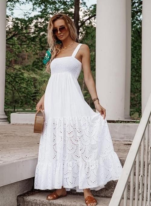 Bawełniana sukienka maxi Dina
