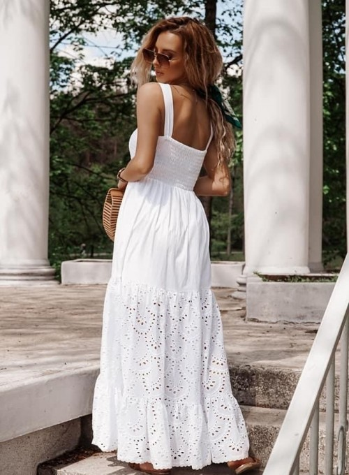 Bawełniana sukienka maxi Dina 1