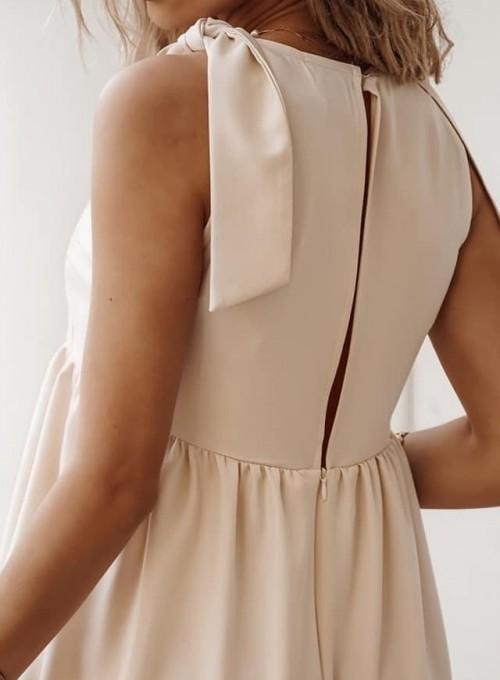 Sukienka Aurora beżowa 1