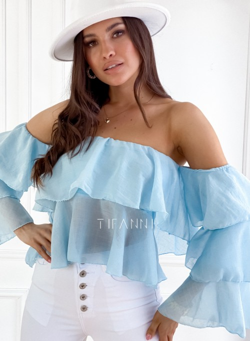 Bluzka hiszpanka Vibes błękitna 2