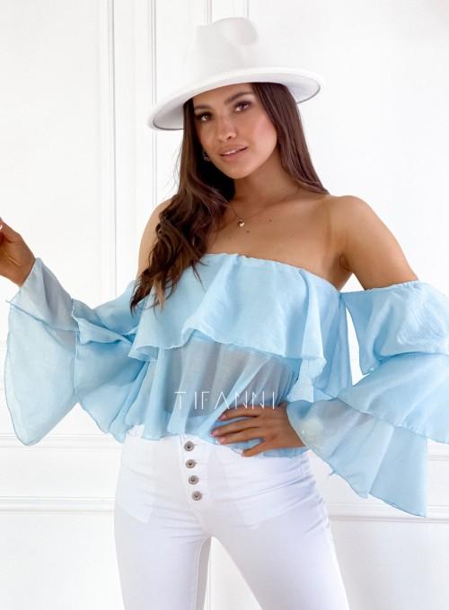 Bluzka hiszpanka Vibes błękitna 5
