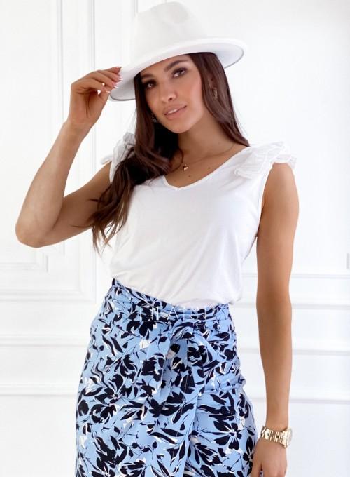 Bluzka bawełniana Hellen biała 3