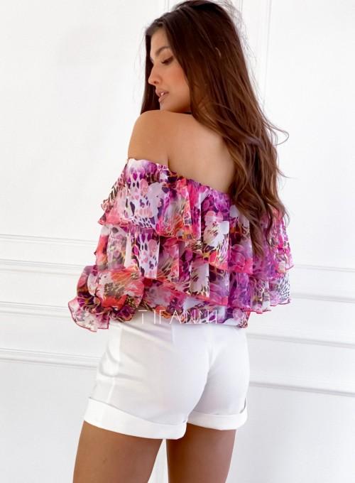 Bluzka hiszpanka Beca w kwiatki 2