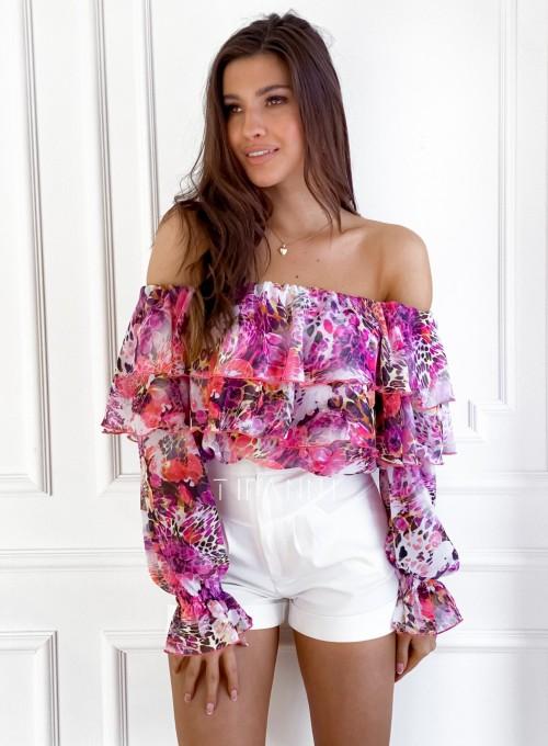 Bluzka hiszpanka Beca w kwiatki 4