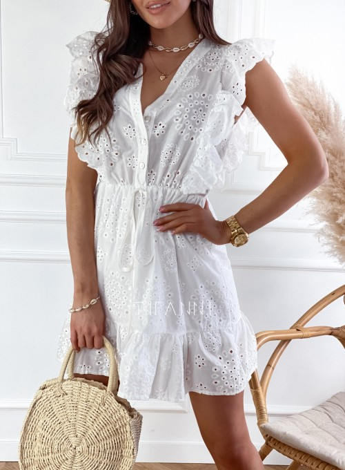 Sukienka Palermo śmietankowa 1