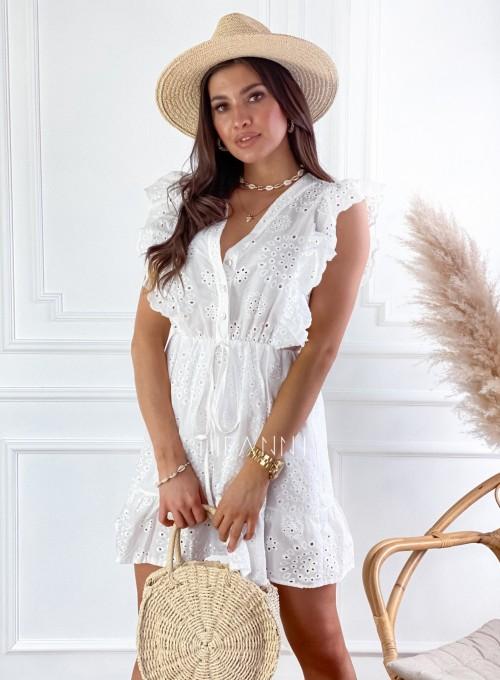 Sukienka Palermo śmietankowa 4