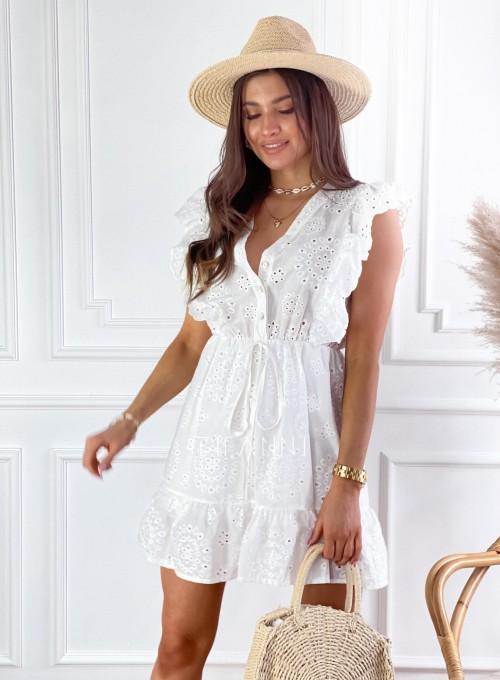 Sukienka Palermo śmietankowa 5