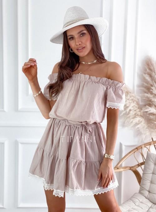 Sukienka Nico hiszpanka beżowa