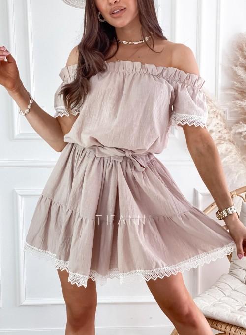 Sukienka Nico hiszpanka beżowa 1