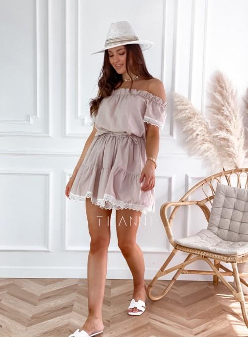 Sukienka Nico hiszpanka beżowa 2