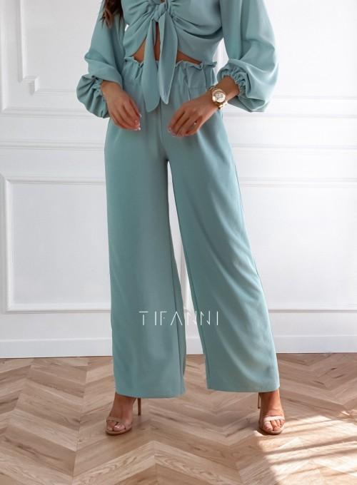 Komplet bluzka ze spodniami Vigo miętowy 6