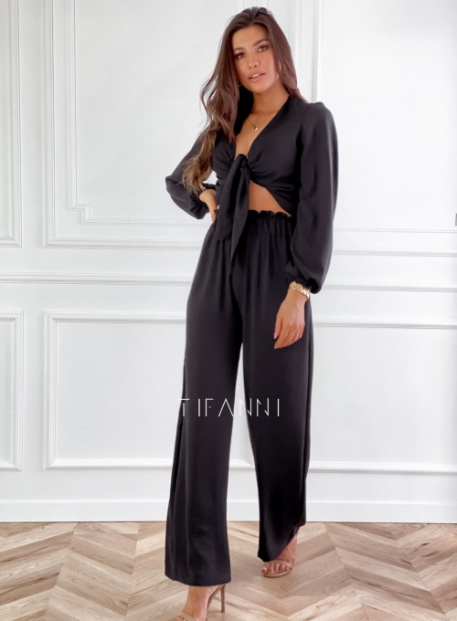 Komplet bluzka ze spodniami Vigo czarny 5