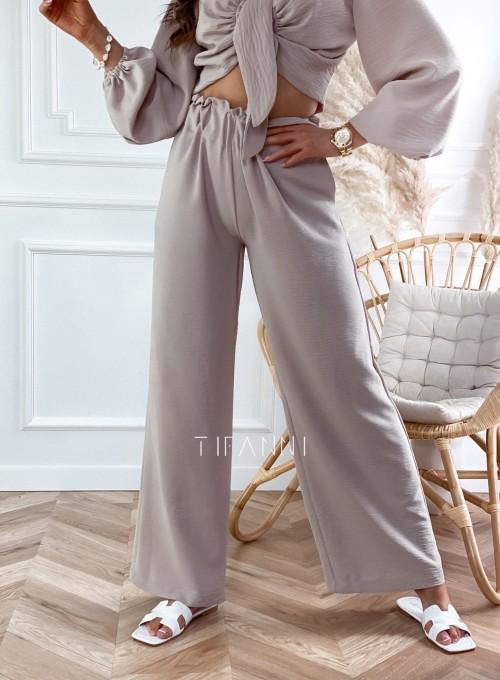 Komplet bluzka ze spodniami Vigo beżowy 6
