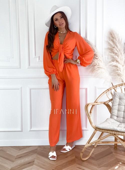 Komplet bluzka ze spodniami Vigo orange 3