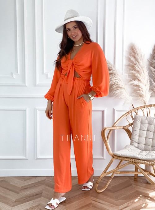 Komplet bluzka ze spodniami Vigo orange 4
