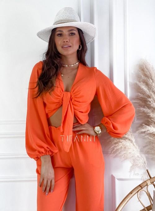 Komplet bluzka ze spodniami Vigo orange 5