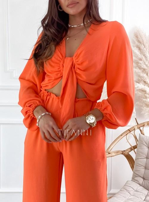 Komplet bluzka ze spodniami Vigo orange 1
