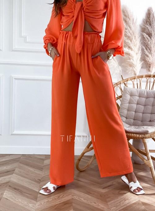Komplet bluzka ze spodniami Vigo orange 6