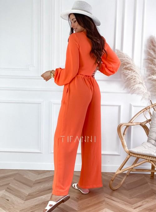 Komplet bluzka ze spodniami Vigo orange 2