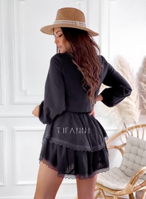 Komplet bluzka spódnica Vogue czarny 6