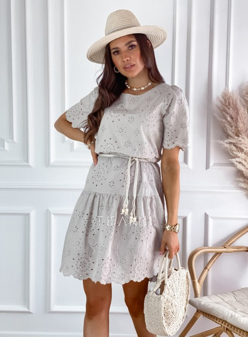 Sukienka Tina beżowa 3
