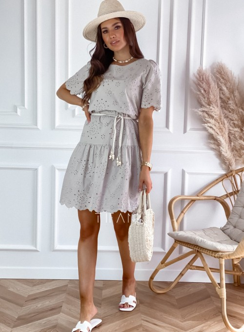 Sukienka Tina beżowa 4