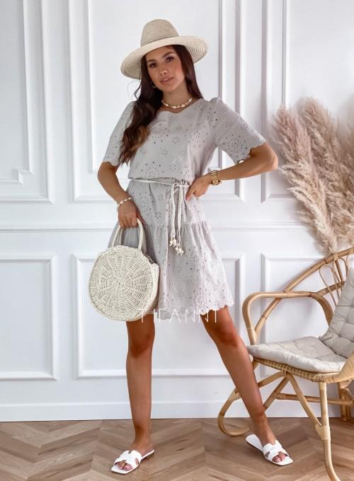 Sukienka Tina beżowa 5