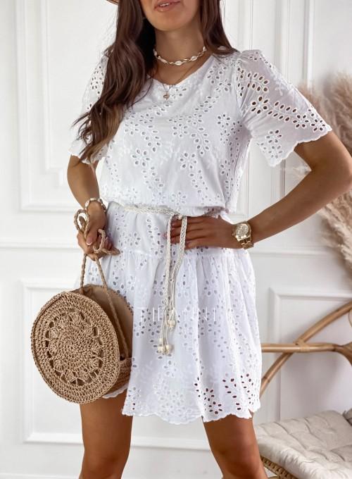 Sukienka Tina biała 1