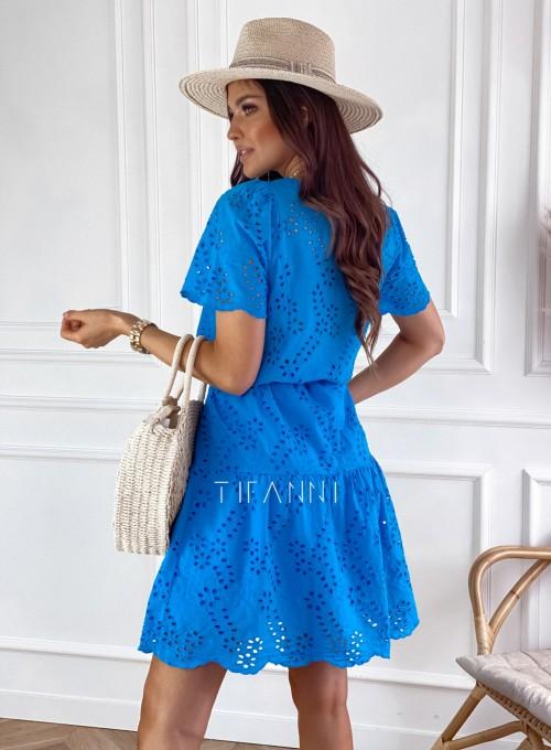Sukienka Tina kobaltowa 3