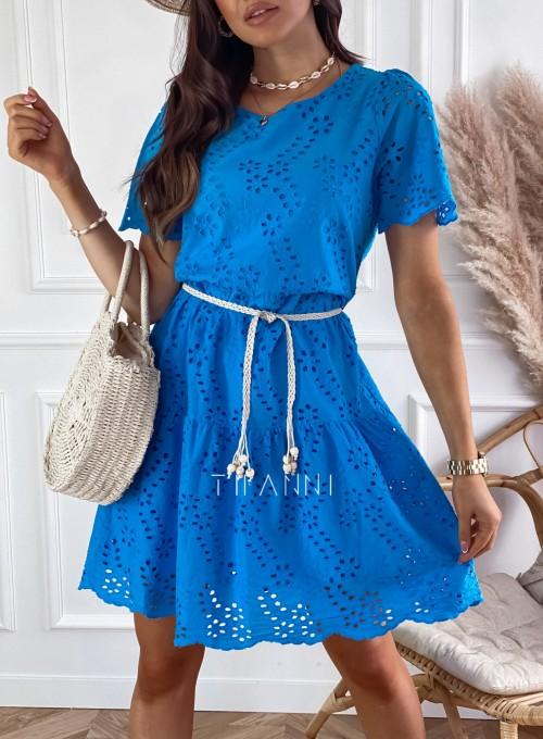 Sukienka Tina kobaltowa 1