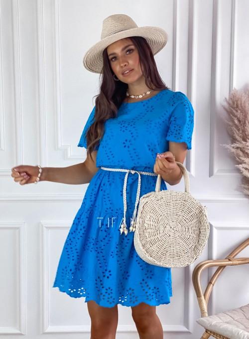 Sukienka Tina kobaltowa 4