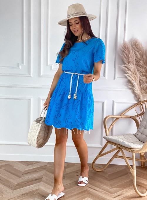 Sukienka Tina kobaltowa 2