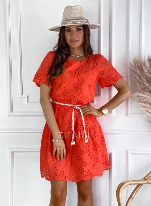 Sukienka Tina orange 4
