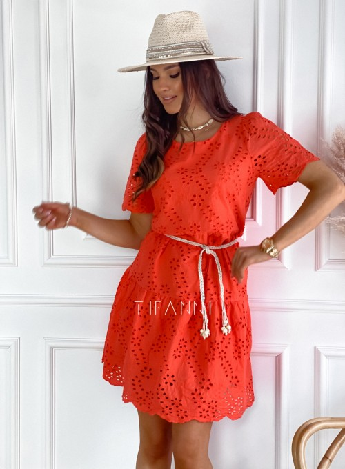 Sukienka Tina orange 2